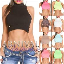 Petite Sleeveless Crop Tops for Women