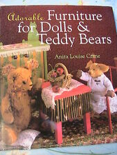 ADORABLE FURNITURE FOR DOLLS & TEDDY BEARS~*RARE 2000~128pp book~bed~table~sofa+