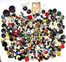 Vintage Buttons - Mixed Lot - Metal - MOP - Wood - Leather - Plastic - 2.5+ Lbs