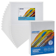 Fixsmith Painting Canvas Panels - 6 x8 Inch Canvas Board Super Value 12 Pack for