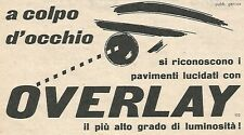 W1904 Lucida pavimenti OVERLAY - Pubblicità del 1958 - Vintage advertising