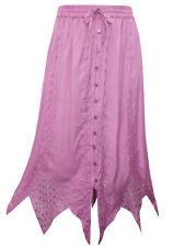 eaonplus MAUVE (PINKY) Renaissance Gothic Zigzag Skirt - Plus Size 18 to 32