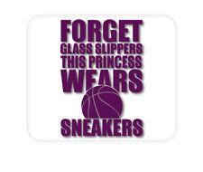 CUSTOM Mouse Pad 1/4 - Forget Glass Slippers Princess Wears Sneakers
