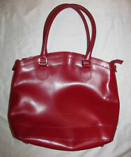 MONTINI red patent polished leather large stachel tote bag