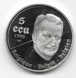 Belgium Silver 5 ECU 1995 Proof 50th Anniversary of the United Nations