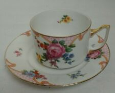 Vintage EPIAG CZECHOSLOVAKIA BRIDAL ROSE (White) Flat Cup and Saucer 5522