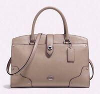 ❤️ COACH Mercer 30 Satchel Leather Bag Purse Stone $395, NWT Original Packaging!