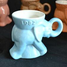 1982 - Light Blue - Frankoma - Elephant - GOP - Republican - Coffee Mug - NM
