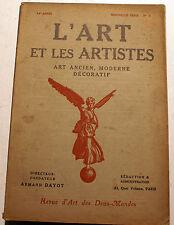 ART DECO/L'ART ET LES ARTISTES/1919/N°3/VAN RYSSELBERGHE/XYLOGRAPHIE/J.SERRIERE
