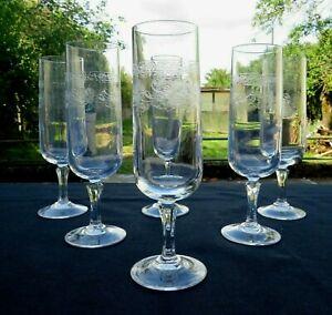 6 flûtes à champagne en cristal d arques modèle Matignon
