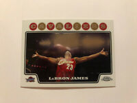 2008-09 Topps Chrome #23 Lebron James Chalk Toss Card Perfect Condition
