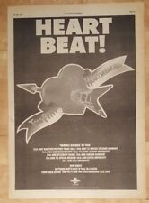 TOM PETTY HEARTBREAKERS Heart Beat Tour 1977 anuncio completo Páginas 28 x 39cm
