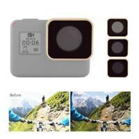 JUNESTAR Action Camera Diving ND8 ND16 ND32 Lens Filters Kit for Gopro 5 6 7