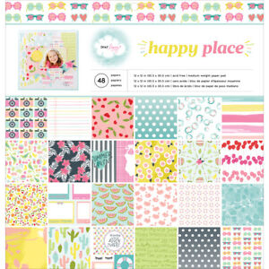 American Crafts Happy Place Collection Paper Pad 12 X 12