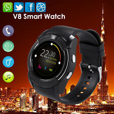 V8 Bluetooth Smart Watch Phone Mate Round Touch Screen for Android Samsung HTC