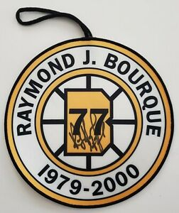 "Ray Bourque Signed 8"" Retirement Pennant Banner HOF Boston Bruins LEGEND RAD"
