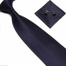 Woven Silk Tie Set Cufflinks and Handkerchief Gift Set Hanky Wedding Party Event