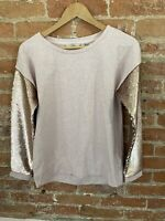 NEXT WOMENS PINK SWEATER WITH SEQUIN SIZE: S BNWT RRP £26