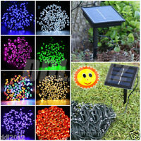 100/200 LED Solar Powered Xmas Easter Party Wedding Outdoor Fairy String Lights