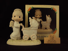 Precious Moments, 16012, Baby's First Trip, Olive Branch, 1985 ~ RARE FIND! ~