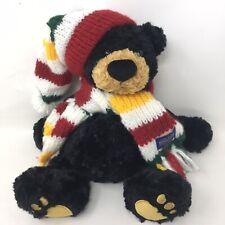"Vtg GUND Pendleton Teddy Bear Great Parks Plush Toy Animal Hat & Scarf 12""  R3A"