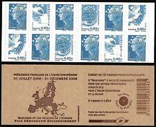 Carnet Timbres France Marianne Autoadhésifs 2008 N°1517 - Sans Numéro de Liasse