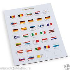 Jeu de drapeaux appropriés pour capsules 2 euros - LEUCHTTURM - Livré neuf