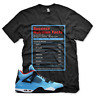 Black SUCCESS FACTS T Shirt for Jordan 4 IV Cactus Jack University Blue UNC