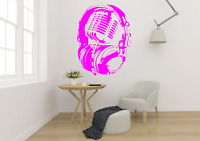 Headphones Over Microphone Music Transfer Wall Art Decal MU27