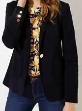 Ann Taylor LOFT Single-Button Front Pocket Blazer Jacket Size 6 Petite Black NWT