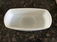 Old Vintage 50's Federal White Milk Glass Loaf Pan Meatloaf Dish