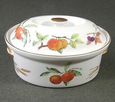 Royal Worcester Evesham Gold Porcelain 2 Quart Oval Covered Casserole EUC