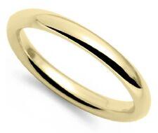 Vintage 18k yellow gold 2mm light comfort fit wedding band gents mans sz 9