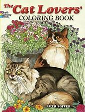 Coloring Book For Adults Cat Lover Realistic Pattern Painting Relaxing Activity