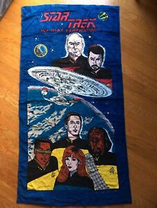Star Trek Next Generation Beach Towel 1994 Paramount by Cecil Saydah Bath TNG