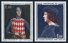 Monaco 674-675, MNH. Princes of Monaco. Rainer I, Lucien Grimaldi, 1967