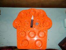 ZAK! Designs Orange Confetti Cupcake Holder Serving Dish Tray