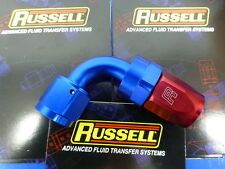 Russell 610170 Full Flow Swivel Hose End Fitting 90 degree AN8 -8 # 8AN Red Blue