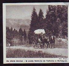 1968 - SUISSE  POSTE FEDERALE VALLORBE BALLAIGUES 19m