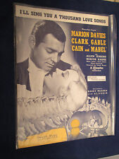 I'll Sing You A Thousand Love Songs Sheet Music from Cain & Mabel Clark Gable