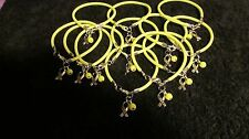 1 Dz Yellow Sarcoma Bone Cancer/Support the Troops Hope Bracelets  * Free ship