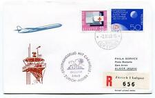 FFC 1963 Phila Service Special Flight Zurich Algier REGISTERED Luftpost