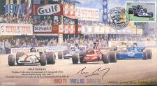 1971 brm P160 mars tyrrell 002 & surtees monza F1 couverture signé max mosley