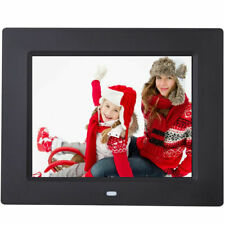 "8"" IPS LCD Digital Photo Frame Calendar Clock Function MP3 Photo Video w Remote"