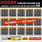 Kodak Xtralife Alkaline AA Mignon Batterien 2700mAh 1,5V LR06 AUSWAHL