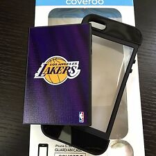 For iPHONE 5 5S SE - HARD RUBBER HYBRID ARMOR SKIN CASE LOS ANGELES L.A LAKERS