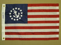 """U.S. United States Yacht Ensign Indoor Outdoor Sewn Nylon Flag Grommet 16"""" X 24"""""""