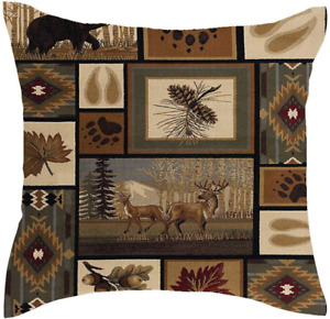 Premium Rustic Frontier Red Moose pillow 20x20 COVER ONLY