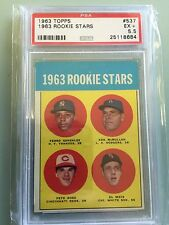 1963 Topps Pete Rose Baseball All-Star Rookie Card PSA 5.5 Investment RC $