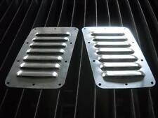 """New! Tilted Pair of 7 5"""" Louvered Panels Hood louvers Bolt-on style Vent Kit"""